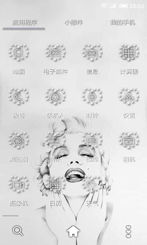 手绘玛丽莲梦露-91桌面主题壁纸美化